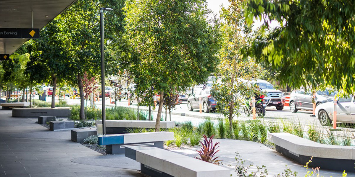 Geelong Malop Street … hailed as leading the way for 'greening projects'