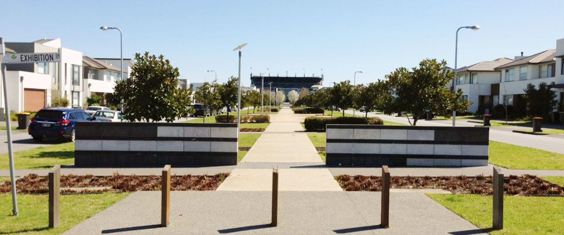 Waverley Park established tree planting